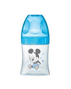 Dodie Biberon Sensation+ 150ml Bleu Mickey 0-6 Mois Tétine Plate Débit 1