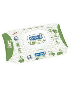 Dodie Lingettes Nettoyantes Dermo-Apaisantes Huile d'Olive 70 Lingettes