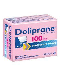Doliprane poudre sachet solution buvable 100 mg