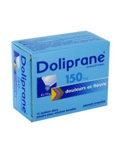 Doliprane poudre sachet solution buvable 150 mg