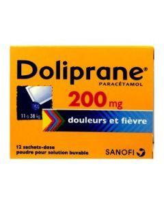 Doliprane poudre sachet solution buvable 200 mg