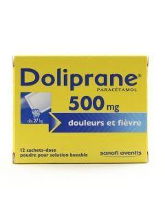 Doliprane poudre sachet solution buvable 500 mg
