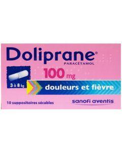 Doliprane suppositoire 100 mg