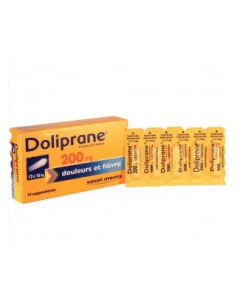 Doliprane suppositoire 200 mg
