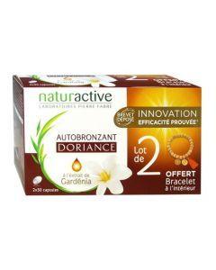 Naturactive Doriance Autobronzant Gardenia Lot de 2x30 Capsules + Bracelet offert