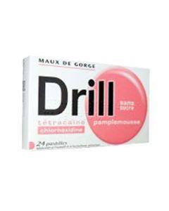 Drill pastilles pamplemousse sans sucre