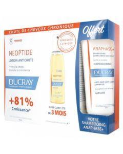 Ducray Neoptide Femme Lotion Anti-Chute 3 x 30ml + Shampooing Anaphase+ Offert