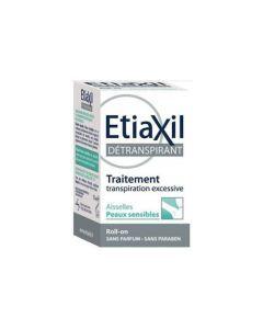 Etiaxil Détranspirant Aiselles Peaux Sensible Roll-on 15ml