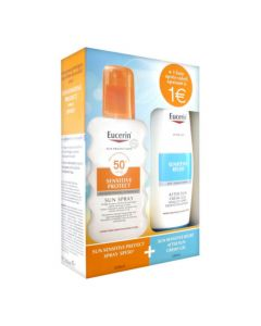 Eucerin Sun Sensitive Protect Spray SPF50+ 200ml + Sensitive Relief After Sun Gel-Crème 150ml