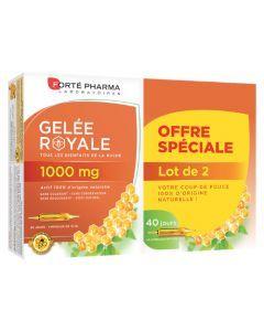 Forté Pharma Gelée Royale 1000mg Lot de 2x20 Ampoules