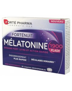 Forte Pharma FortéNuit Mélatonine 1900 Flash 30 Comprimés