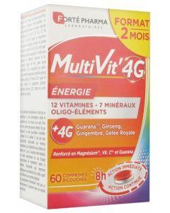 Forté Pharma Multivit'4G Energie 60 Comprimés
