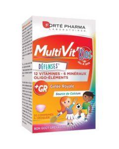 Forté Pharma MultiVit'Kids Défenses 30 Comprimés à croquer