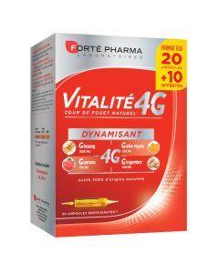 Forté Pharma Vitalité 4g Dynamisant 20 Ampoules + 10 Offertes