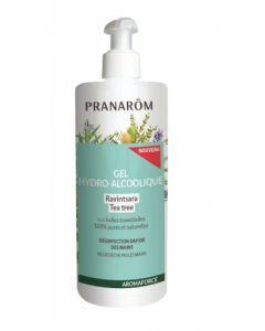 Pranarôm Aromaforce Gel Hydro-Alcoolique Ravintsara Tea Tree 500 ml