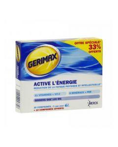 Merck Gerimax Active l'Énergie 30 Comprimés + 10 Comprimés Offerts