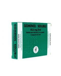 Gomenol soluble 82,5 mg/5 ml 5 ampoules
