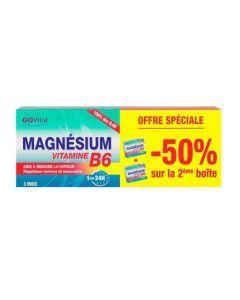GoVital Magnésium Vitamine B6 Lot de 2x45 Comprimés