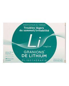 Granions de Lithium 1 mg / 2 ml