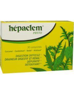 Hepaclem Phyto Digestion Difficile 30 Comprimés