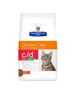 Hill's Prescription Diet C/D Urinary Stress Reduced Calorie pour Chat au Poulet 4kg