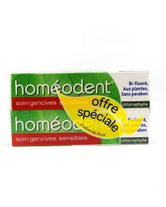 Homéodent Soin Gencives Sensibles Chlorophylle Duo 75ml