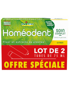 Homéodent Soin Complet Dents et Gencives Citron 2x75ml