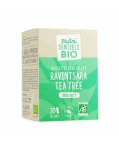 Nutrisanté Nutri'Sentiels Bio Ravintsara Tea Tree 30 Gélules