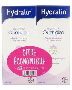 Hydralin Quotidien Gel Lavant Lot 1+2ème -20% 2x200ml