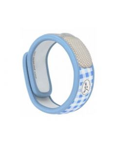 Para Kito Bracelet Anti Moustique Rechargeable Graffic Bleu Vichy