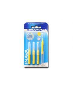 Inava Brossettes monocompact jaune x4 (0,8mm - ISO 1)