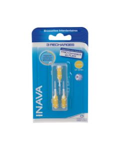 Inava Brossettes recharges jaune x3 (0,8mm - ISO 1)