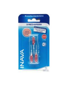 Inava Brossettes recharges rouge x3 (1,2mm - ISO 3)
