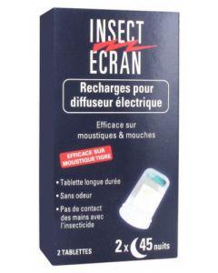 Insect Ecran Recharges pour Diffuseur Électrique Deux Tablettes