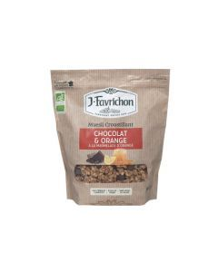 Favrichon Muesli Croustillant Chocolat Orange Sachet refermable 500g