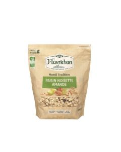 Favrichon Muesli Tradition Raisin Noisette Amande Sachet refermable 500g