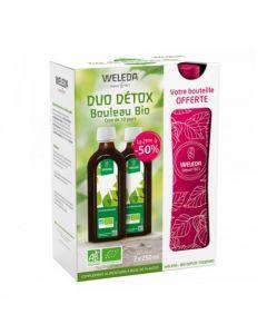 Weleda Duo Détox Bouleau Bio 2 x 250ml + Bouteille Nomade Offerte