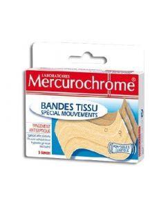 Mercurochrome Bandes Tissu Spécial Mouvements X5