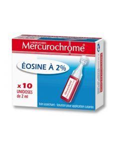 Mercurochrome Eosine à 2% Unidoses Stériles 2ml 10 Unidoses