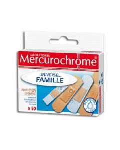 Mercurochrome Pansements Universel Famille X50