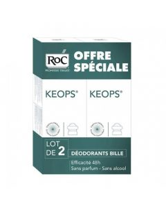 Roc Keops Déodorant Bille 30ml X2