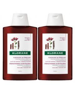 Klorane Shampooing Fortifiant à la Kinine et Vitamine B 2x400ml