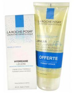 La Roche-Posay Hydréane Légère 40ml + Lipikar Huile Lavante AP+ 100ml Offerte