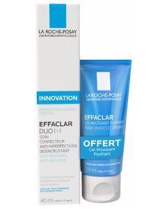 La Roche-Posay Effaclar Duo+ 40ml + Gel Moussant Purifiant Offert