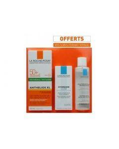 La Roche Posay Anthelios Gel Crème SPF 50 Toucher Sec 50 ml + Offert Hydreane Légère 15 ml et l'Eau Micellaire 50 Ml