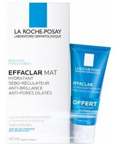 La Roche-Posay Effaclar Mat Hydratant 40ml + Gel Moussant Purifiant 50ml
