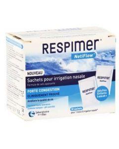 Respimer Netiflow Sachets Pour Irrigation Nasale 30 Sachets
