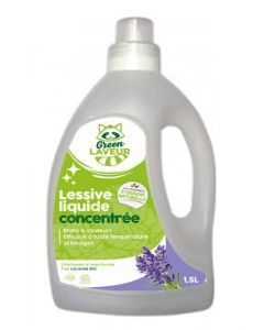 Green Laveur Lessive Liquide Concentrée Lavande 1,5l