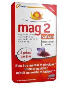 Mag 2 Safran Magnésium Marin 30 Comprimés