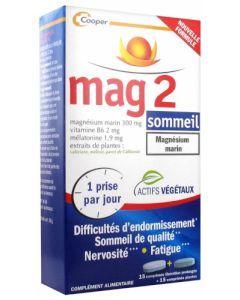 Mag 2 Cooper Sommeil Magnésium Marin 15 + 15 Comprimés